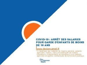 COVID19 ARRT DES SALARIES POUR GARDE DENFANTS DE