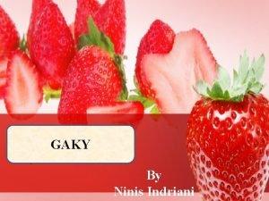 GAKY By Ninis Indriani Masalah Gizi di Indonesia