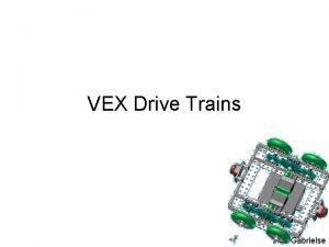 VEX Drive Trains J M Gabrielse Drive Trains