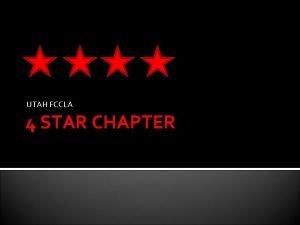 UTAH FCCLA 4 STAR CHAPTER A UTAH STATE