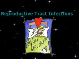 Reproductive Tract Infections The relationships of reproductive tract