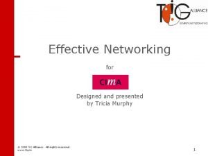 Networking Effective Networking for Designed and presented by