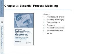 Chapter 3 Essential Process Modeling Contents 1 First