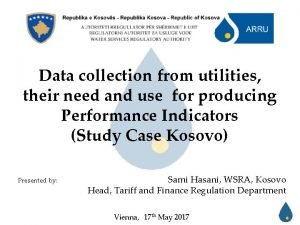 Data collection from utilities their need and use