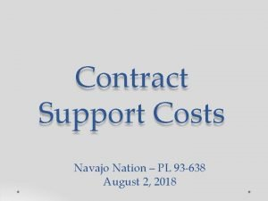 Contract Support Costs Navajo Nation PL 93 638