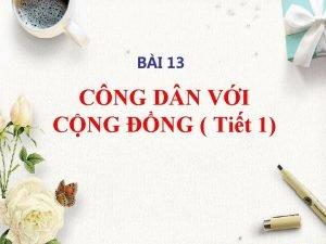 BI 13 CNG D N VI CNG NG