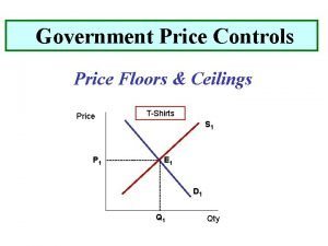 Government Price Controls Price Floors Ceilings Price TShirts