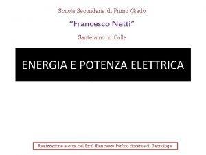 Scuola Secondaria di Primo Grado Francesco Netti Santeramo