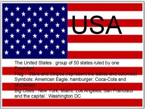 USA The United States group of 50 states