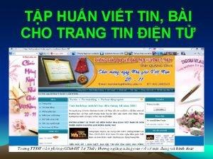 TP HUN VIT TIN BI CHO TRANG TIN