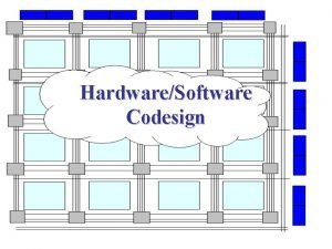 HardwareSoftware Codesign Outline Background and Rationale Architecture design