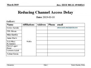 March 2019 doc IEEE 802 11 190402 r