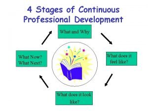 4 Stages of Continuous Professional Development What and