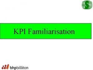 KPI Familiarisation KPI Key Performance Indicator Objectives Improve