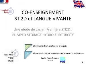 COENSEIGNEMENT STI 2 D et LANGUE VIVANTE Une