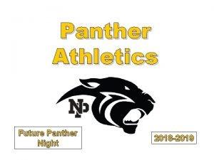 Panther Athletics Future Panther Night 2018 2019 Newbury