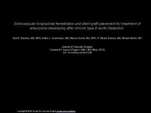Endovascular longitudinal fenestration and stent graft placement for