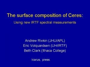 The surface composition of Ceres Using new IRTF