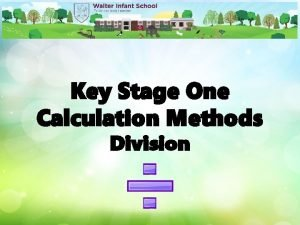 Key Stage One Calculation Methods Division Division Vocabulary