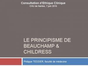 Consultation dEthique Clinique CHU de Nantes 7 juin