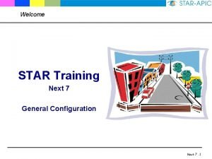 Welcome STAR Training Next 7 General Configuration Next