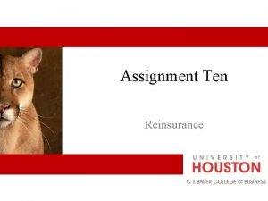 Assignment Ten Reinsurance Basic Terms and Concepts Reinsurance