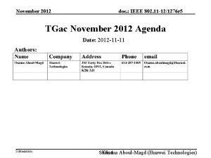 November 2012 doc IEEE 802 11 121276 r