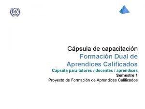 Cpsula de capacitacin Formacin Dual de Aprendices Calificados