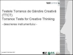 Testele Torrance de Gndire Creativ TTCT Torrance Tests