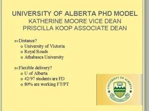 UNIVERSITY OF ALBERTA PHD MODEL KATHERINE MOORE VICE
