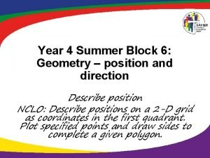 Year 4 Summer Block 6 Geometry position and