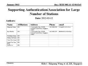 January 2012 doc IEEE 802 11 120112 r