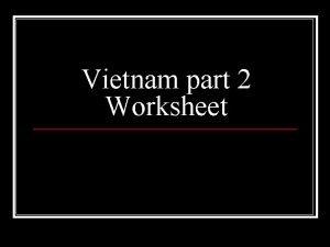 Vietnam part 2 Worksheet n Gulf of Tonkin