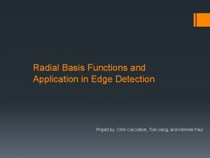 Radial Basis Functions and Application in Edge Detection