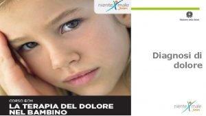 Diagnosi di dolore Classificazione CLINICA DIFFERENZIAZIONE Dolore Acuto