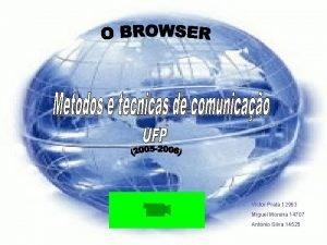 Victor Prata 12963 Miguel Moreira 14707 Antnio Silva
