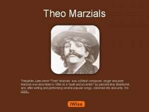 Theo Marzials ThophileJulesHenri Theo Marzials was a British
