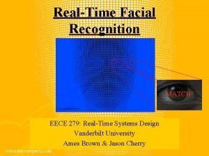RealTime Facial Recognition MATCH EECE 279 RealTime Systems
