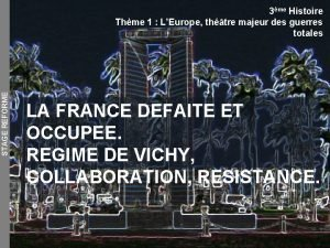 STAGE REFORME 3me Histoire Thme 1 LEurope thtre