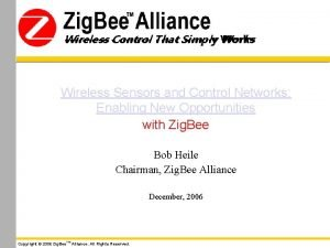 Wireless Control That Simply Works Wireless Sensors and