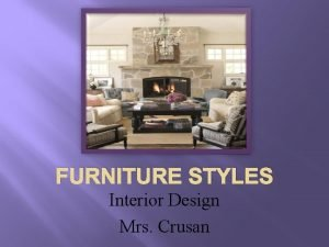 FURNITURE STYLES Interior Design Mrs Crusan Jacobean Style