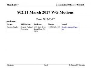 March 2017 doc IEEE 802 11 170258 r