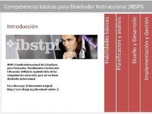 Para descargar el documento original http www ibstpi