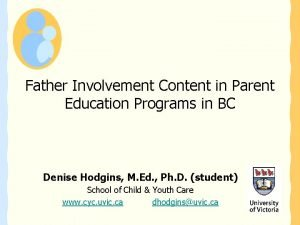 Father Involvement Content in Parent Education Programs in