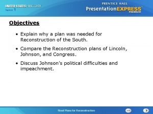 Chapter Section 1 25 Section 1 Objectives Explain