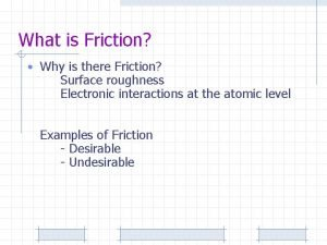What is Friction Why is there Friction Surface