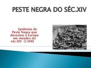 PESTE NEGRA DO SC XIV Epidemia de Peste