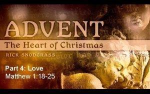 Part 4 Love Matthew 1 18 25 Matthew