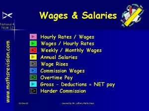 Wages Salaries www mathsrevision com National 4 NUM