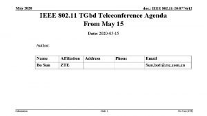 May 2020 doc IEEE 802 11 200774 r